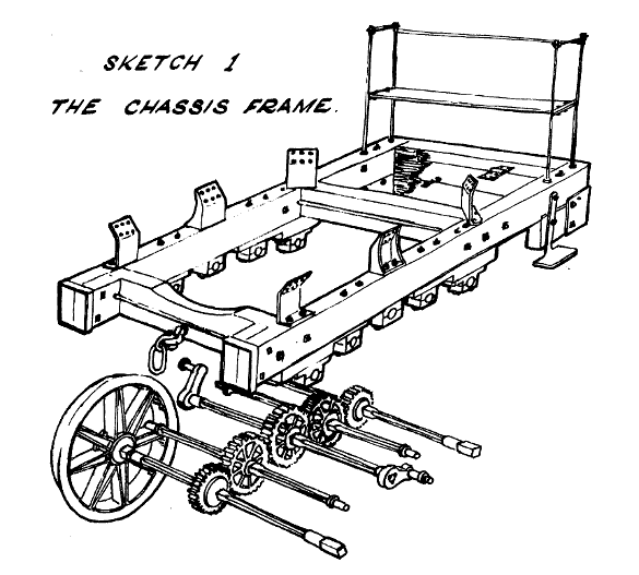 Sketch 1. Puffing Billy chassis frame