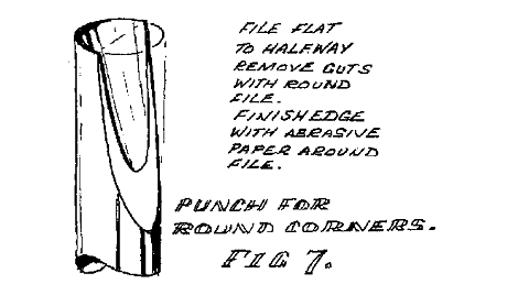 Figure 7. Home made punch for cutting round corners