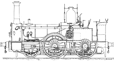 Drawing. London South Western Railway Locomotives numbers 243 to 254. Drawn by Colin Binnie.