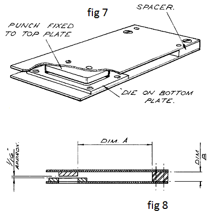 Fig 7. typical clapper tool. Fig 8. section of clapper tool.