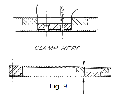 Fig 9. clapper tool assembly tips