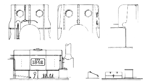 Details Drawing. Taff Vale Railway locomotive number 267 by Colin Binnie